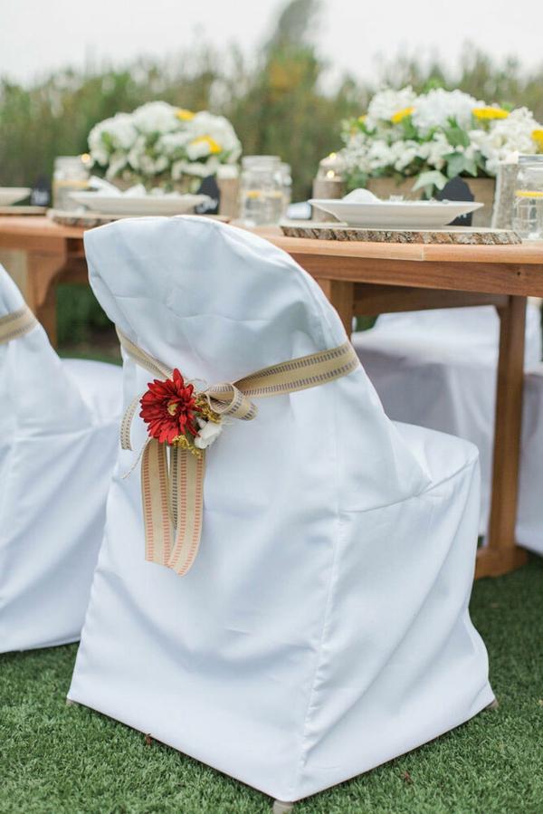 déco mariage housses de chaises en coton