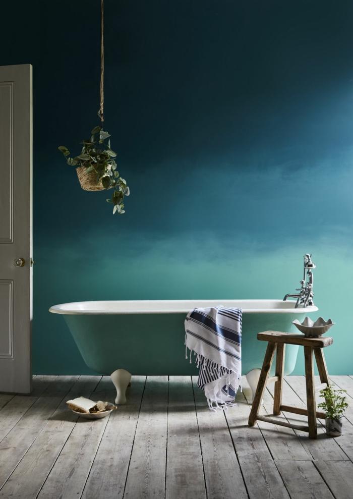 déco salle de bains effet tie and dye