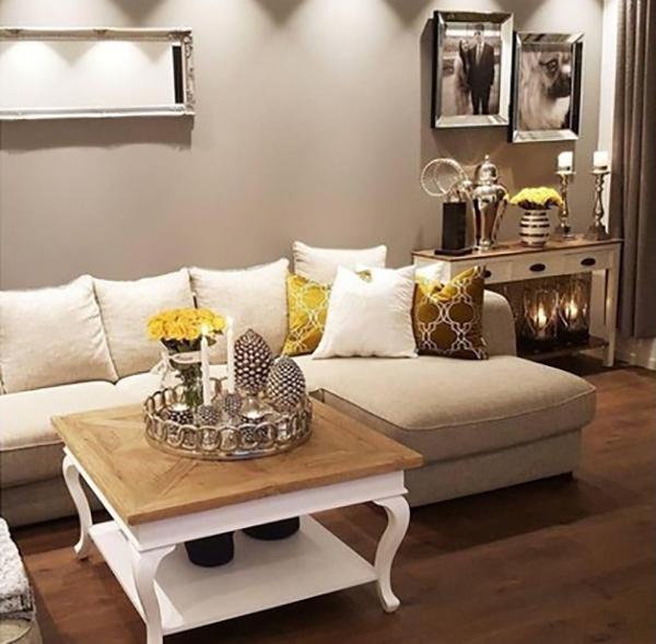 décoration d'automne fait maison couleur dorée
