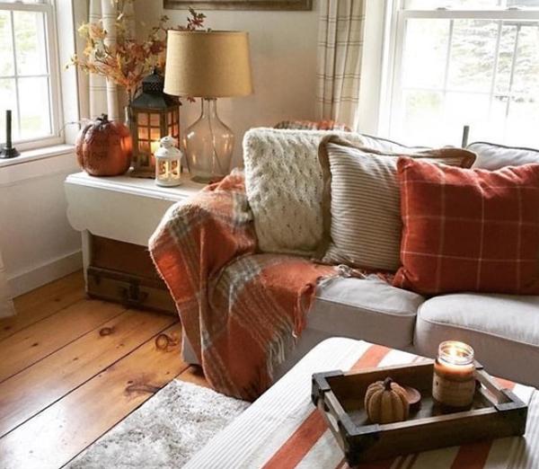 décoration d'automne fait maison déco rustique