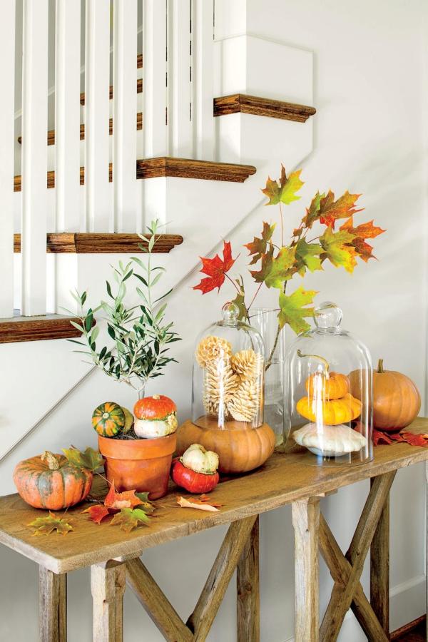 décoration d'automne fait maison joli décor