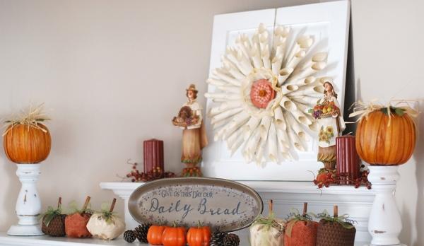 décoration d'automne fait maison la récolte est riche