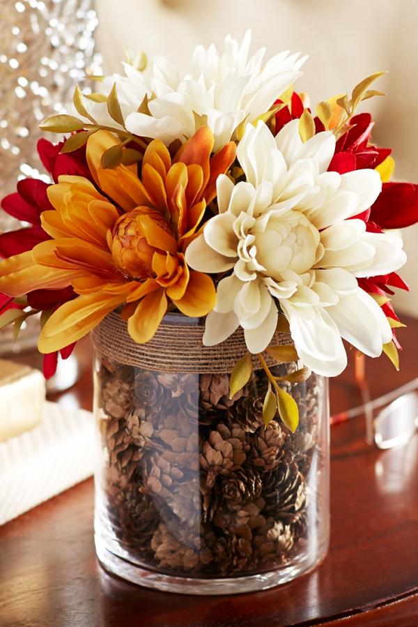 décoration d'automne fait maison un arrangement magnifique