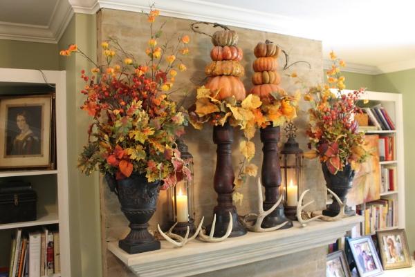 décoration d'automne fait maison vases énormes