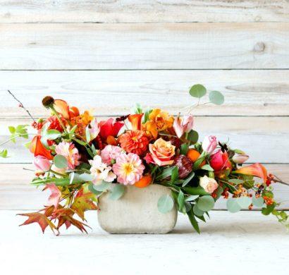 décoration florale automne