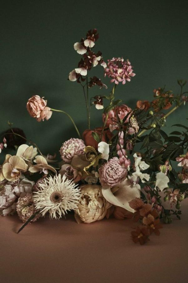 décoration florale d'automne orchidées roses