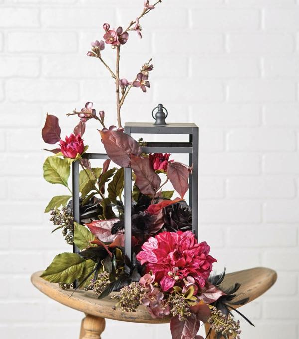 décoration florale pour l'automne diy chrysanthèmes branchage