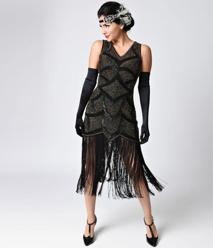 déguisement années 20 robe à franges