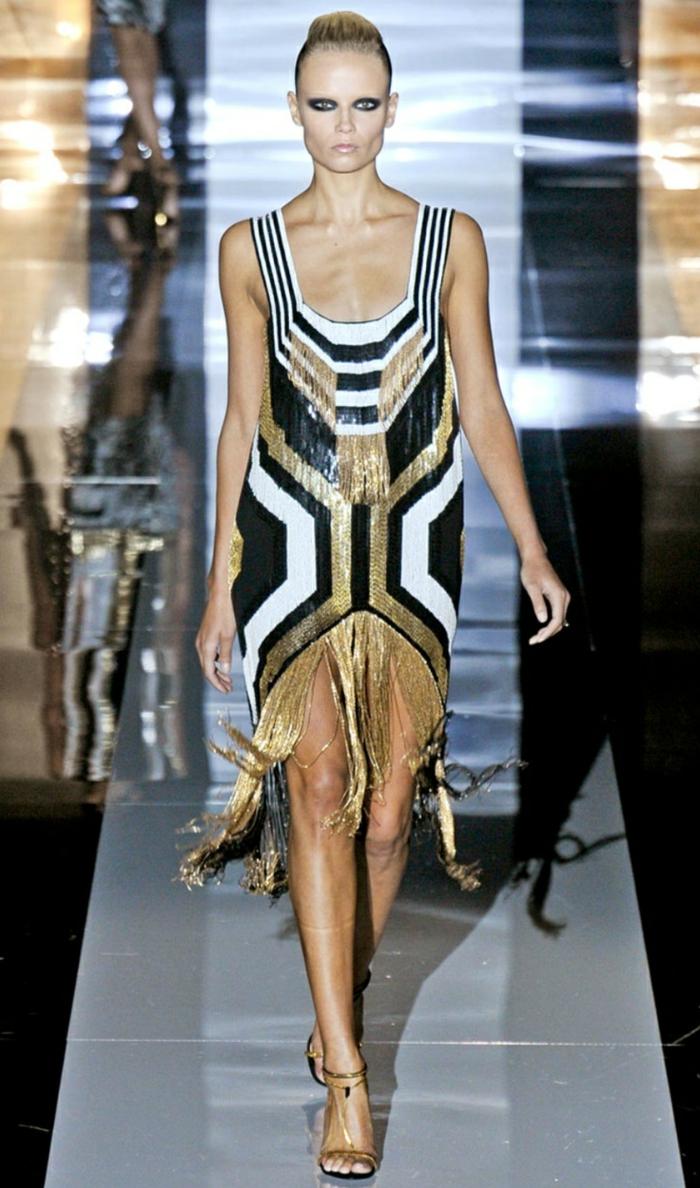 déguisement années 20 robe dorée