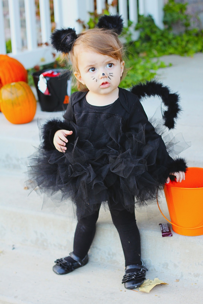 déguisement halloween bébé chat