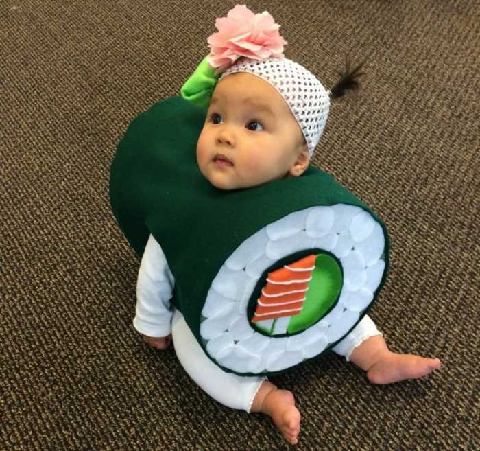 déguisement halloween bébé costume sushi
