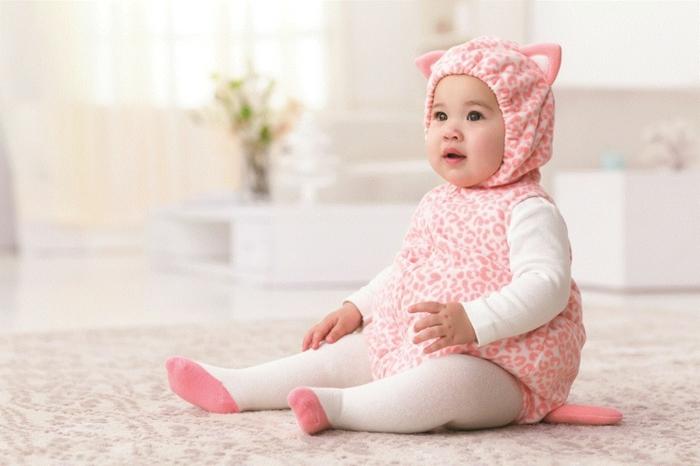 déguisement halloween bébé leopard en rose