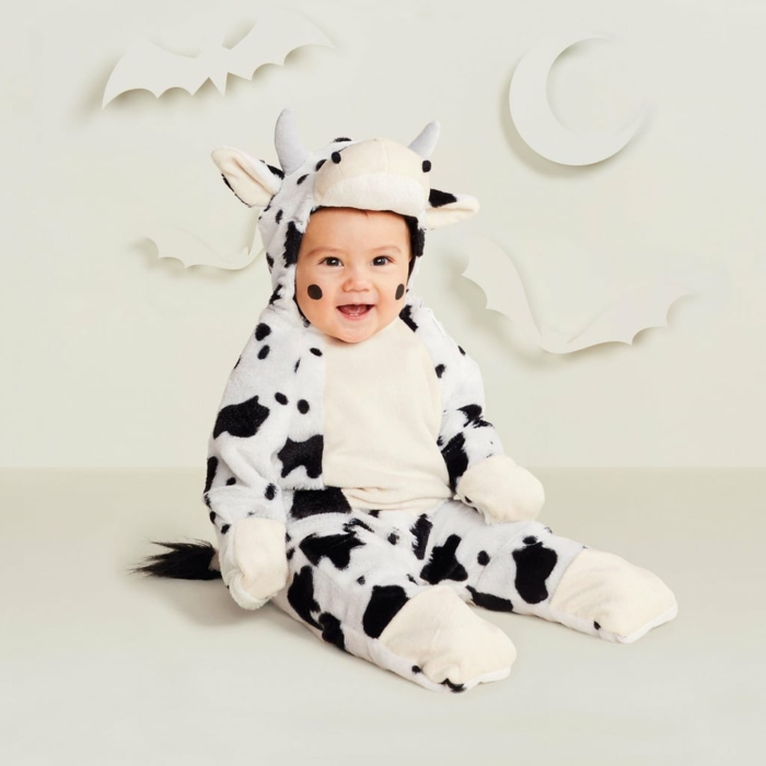 déguisement halloween bébé vache