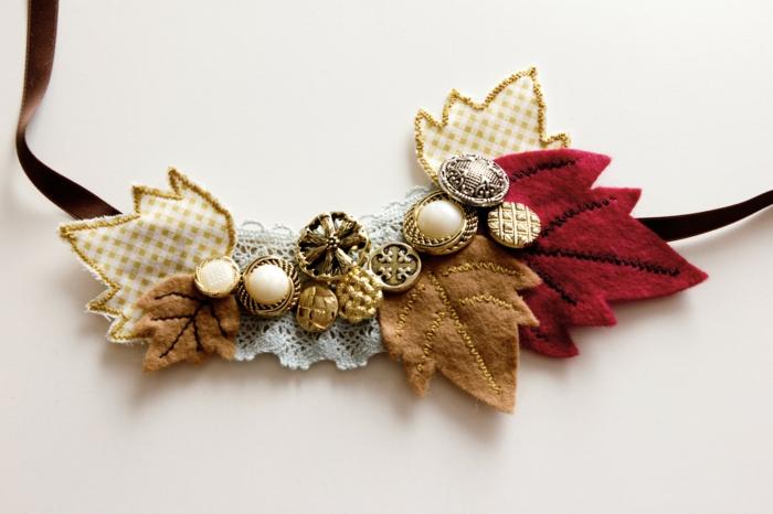 diy collier style automne activités manuelles automne