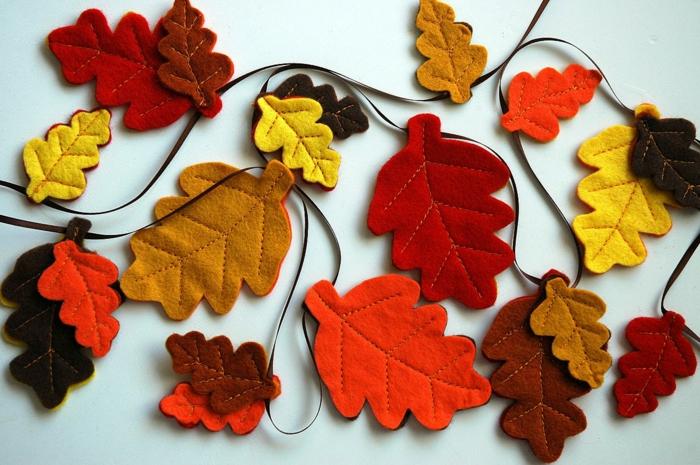 feuilles d'automne en tissu activités manuelles automne