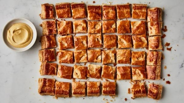 feuilleté apéro au jambon et au fromage