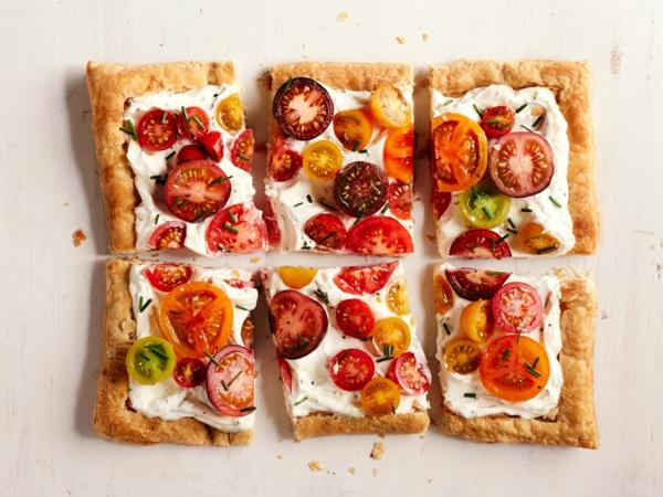 feuilleté apéro aux tomates et tomates cerises