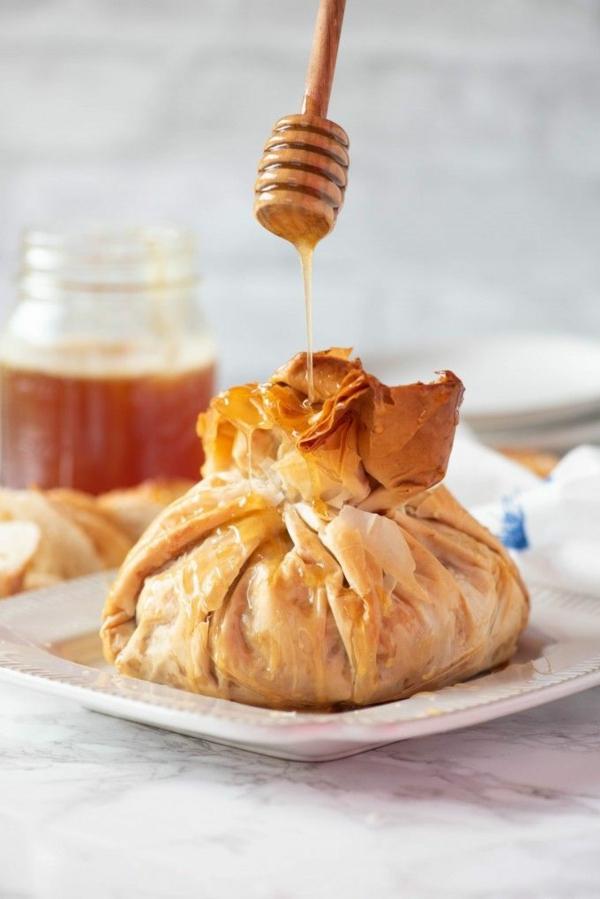 feuilleté apéro dessert farce noix miel
