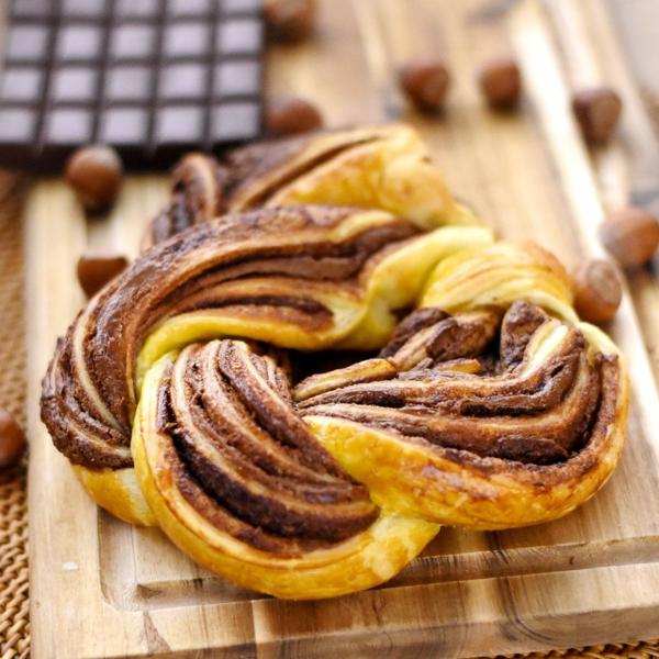 feuilleté apéro gâteau torsadé au chocolat