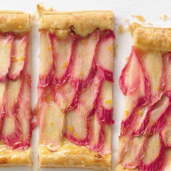 feuilleté apéro tarte à la rhubarbe et à l'orange