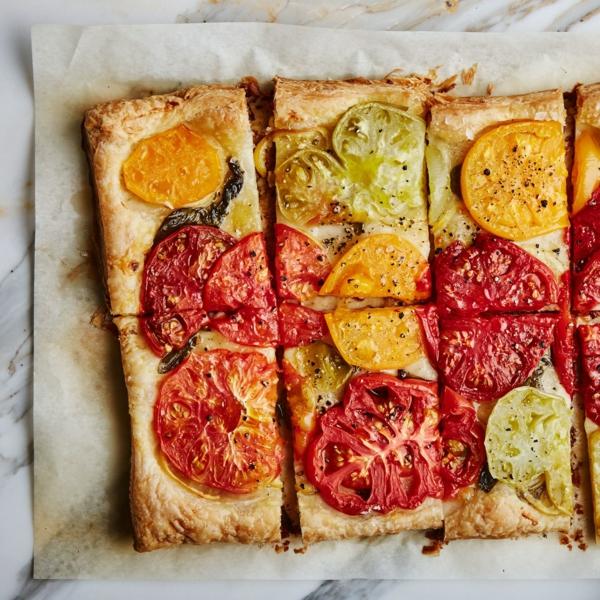 feuilleté apéro tarte aux Tomates et au citron