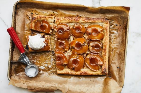 feuilleté apéro tarte aux pommes et amandes