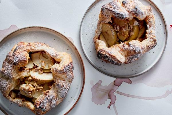 feuilleté apéro tarte aux pommes et au beurre de noix