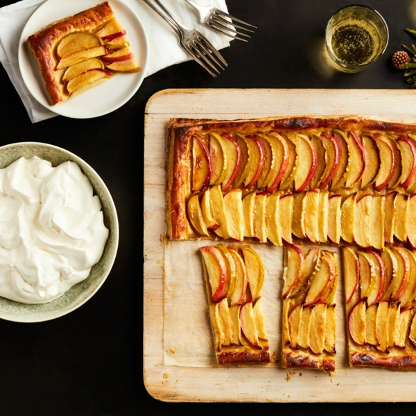 feuilleté apéro tarte aux pommes et au caramel