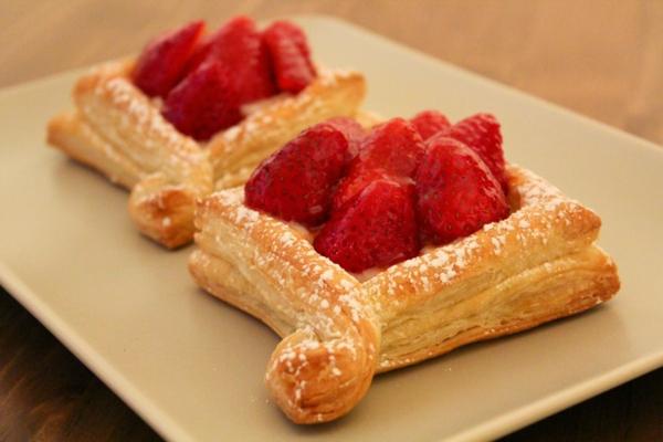 feuilleté apéro tarte sucrée aux fraises