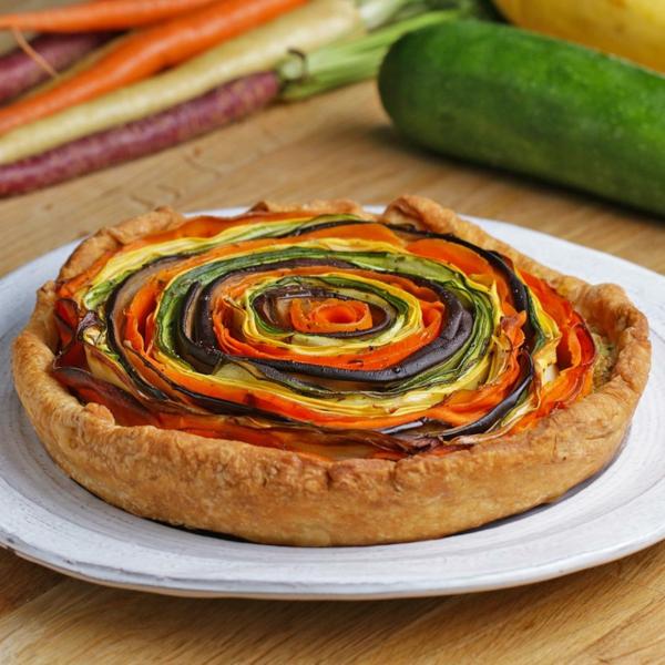 feuilleté apéro tarte vegan aux légumes