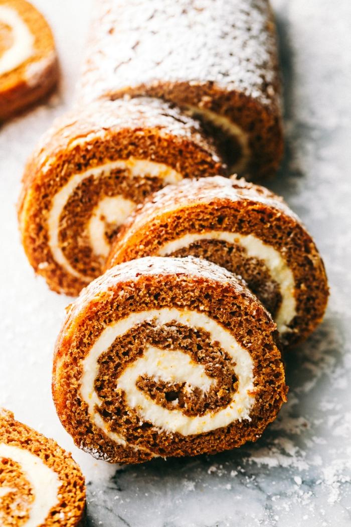 gâteau à la citrouille rouleau recette facile