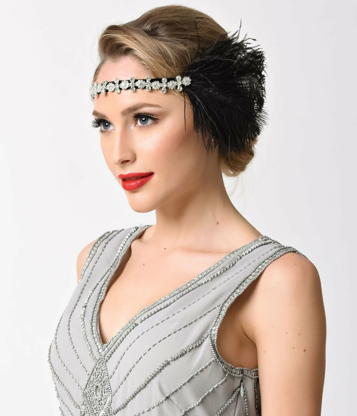 headband plumes déguisement années 20