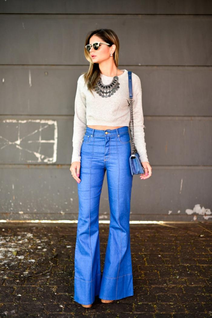 idée comment adopter le jean flare femme