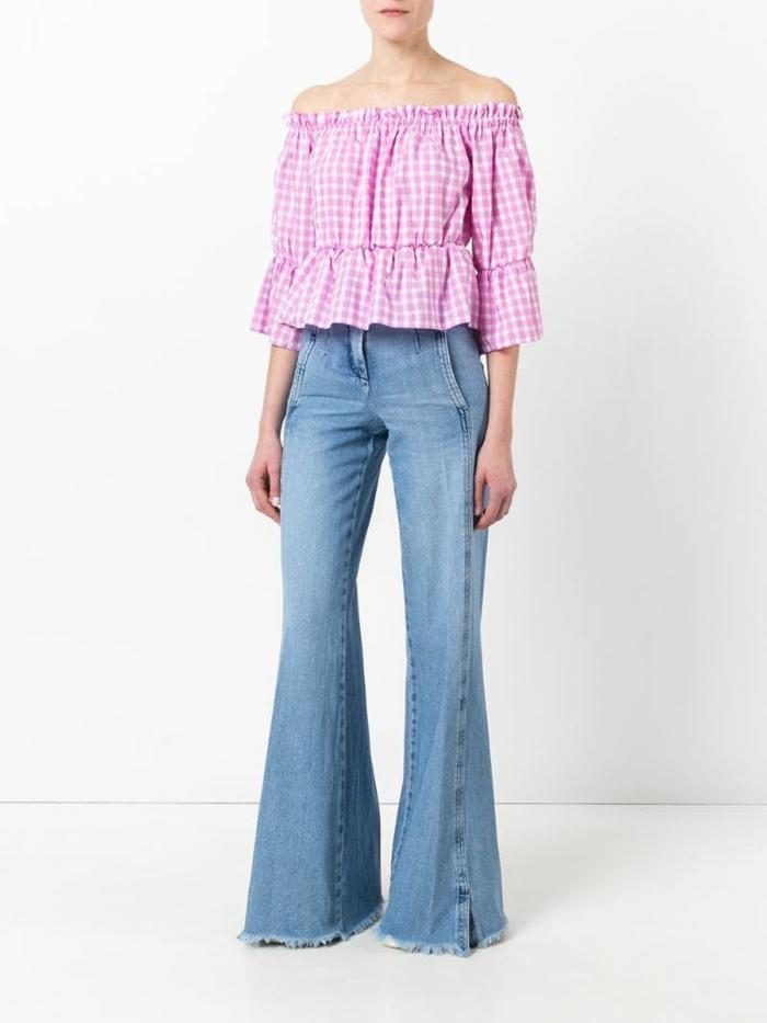 idée comment porter le jean flare femme