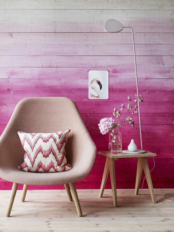 idée en rose effet tie and dye
