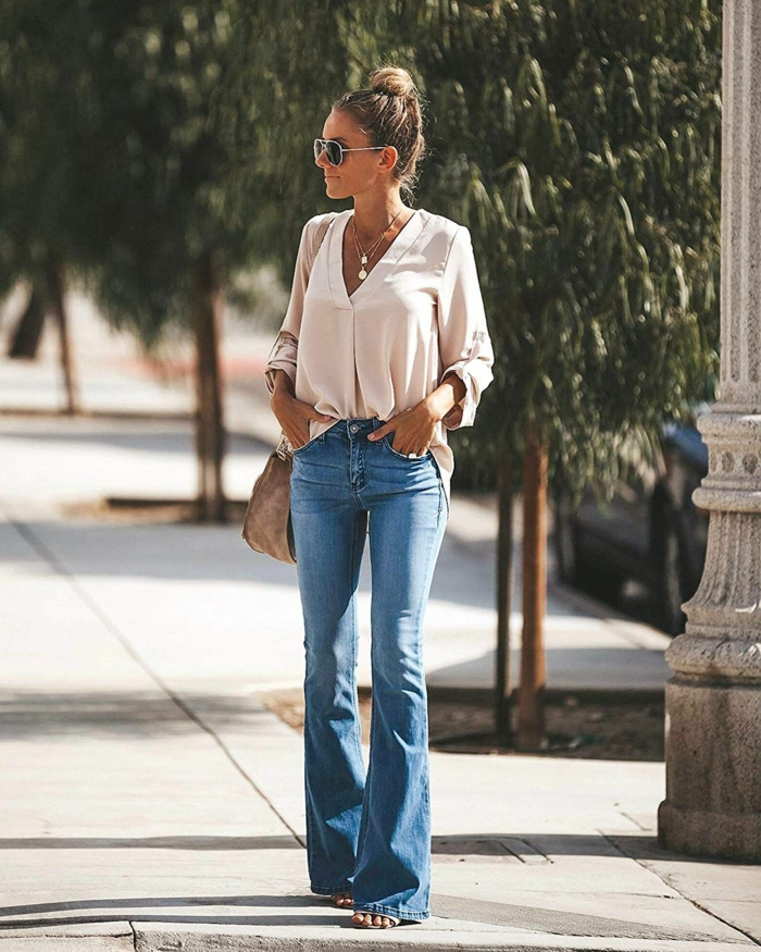 jean flare femme mode 2019-2020