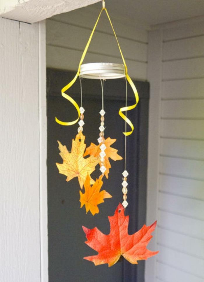 jolie suspension activités manuelles automne feuilles séchées