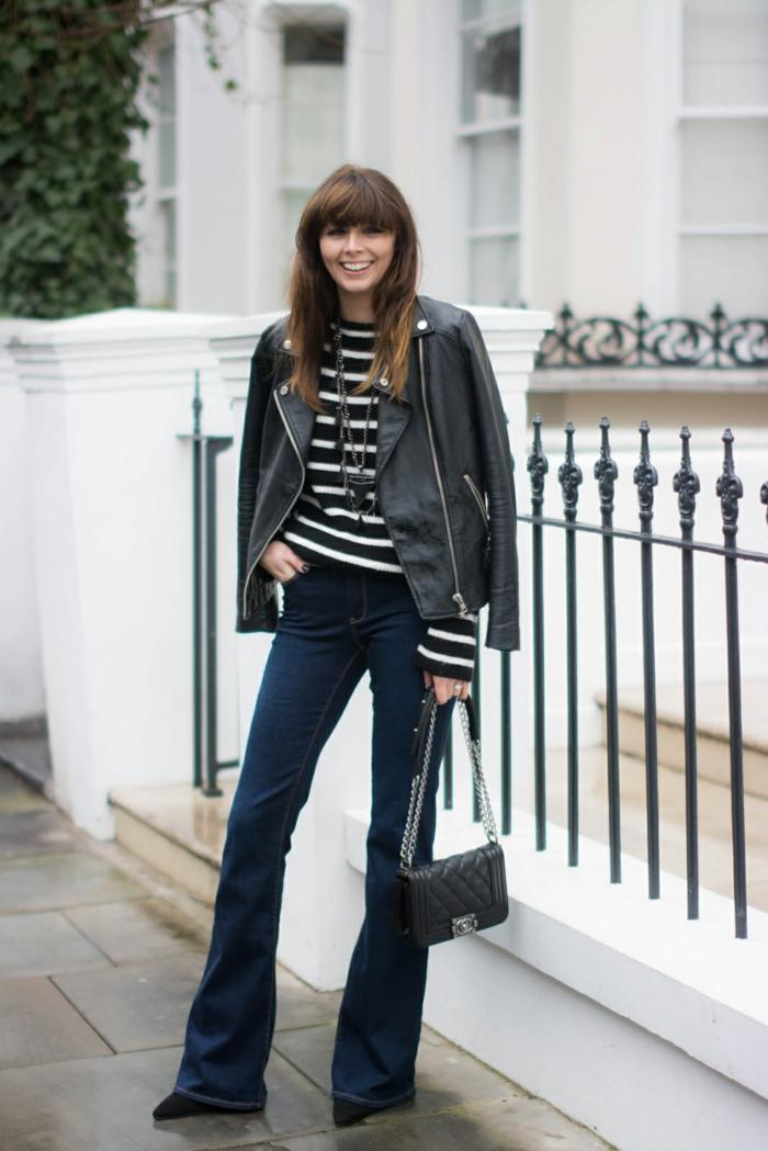 look stylé jean flare femme