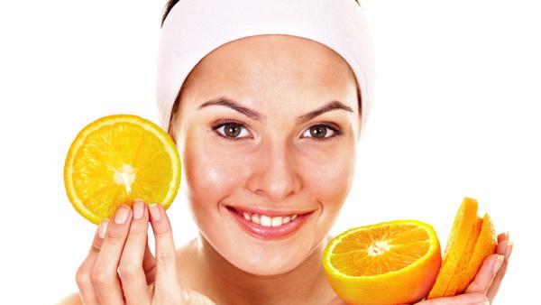 masque fait maison des tranches d'orange