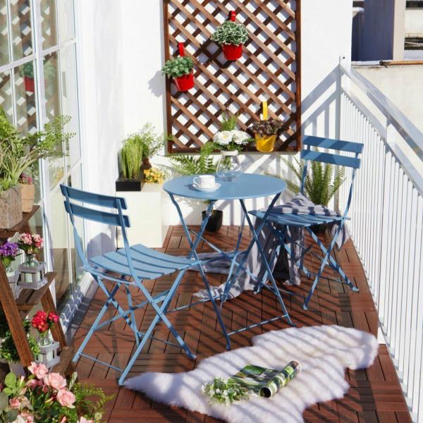 meubles pliables treillis pour les fleurs