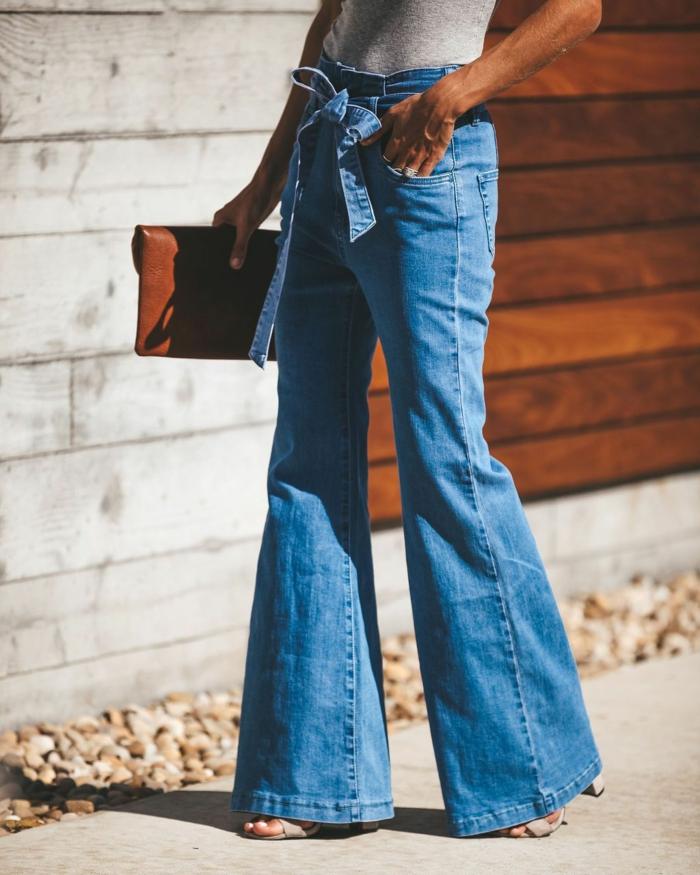 mode femme jean flare femme