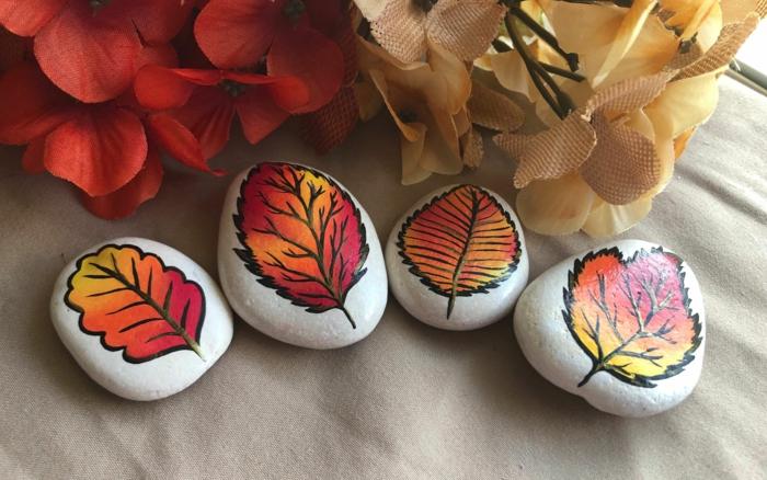 peinture sur galets activités manuelles automne