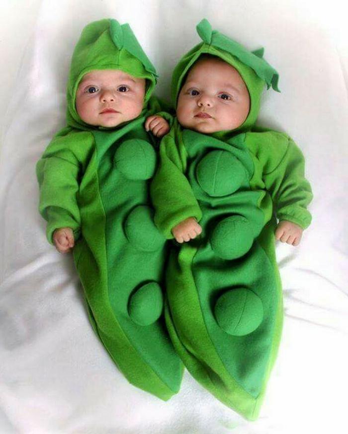 pois vert déguisement halloween bébé