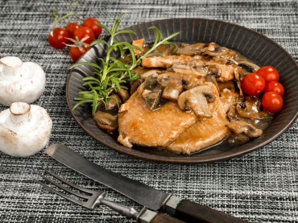 recette avec des champignons côtelettes de porc