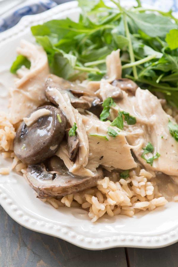 recette avec des champignons crockpot