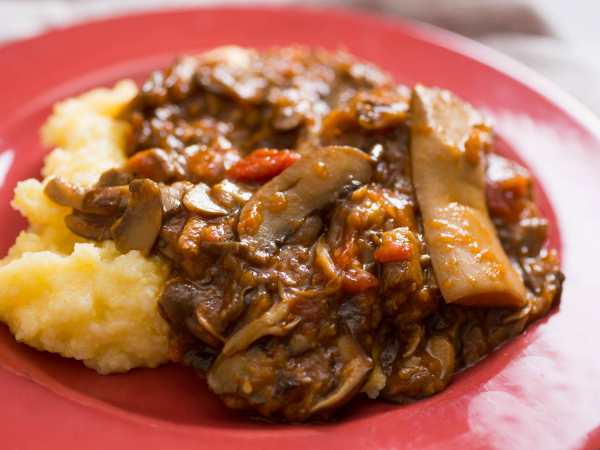 recette avec des champignons de la polenta