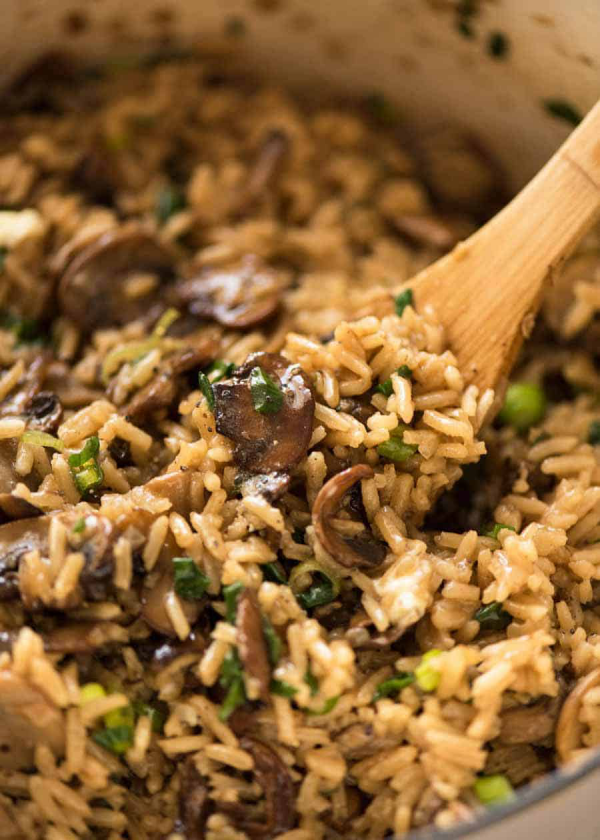 recette avec des champignons du pilaf