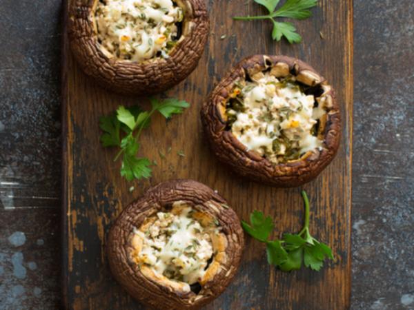 recette avec des champignons farcis