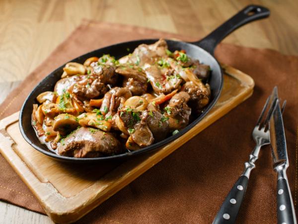 recette avec des champignons foies de poulet