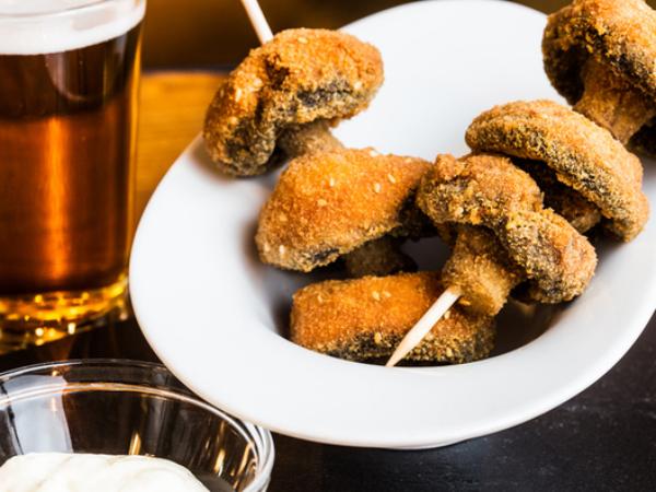 recette avec des champignons panés